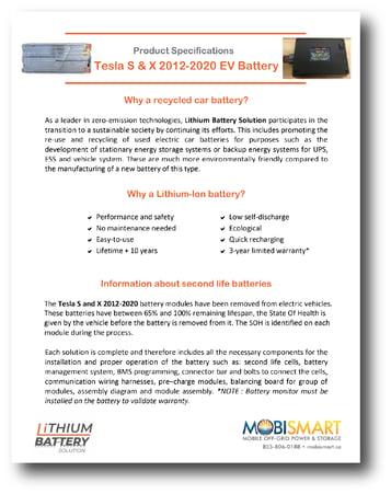 Mobismart TESLA S-X 2012-2020 FRONT TN DS