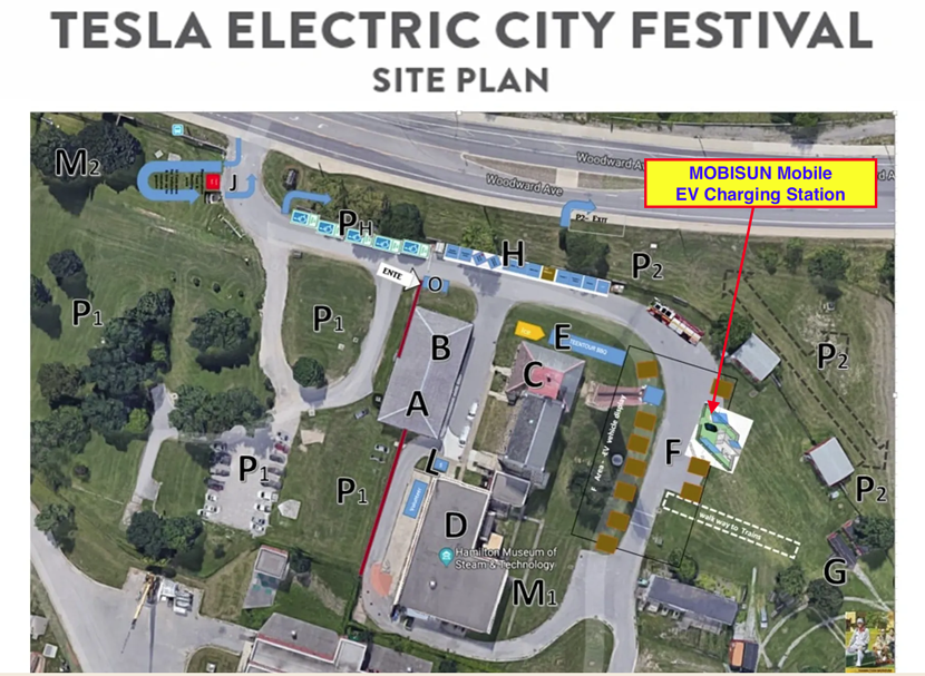 Tesla City Festival site plan